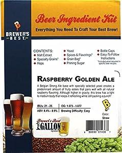 Brewer's Best One Gallon Home Brew Beer Ingredient Kit (Raspberry Golden Ale)