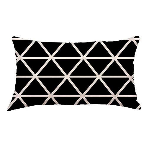 mamum tapizar - Cojín (30 x 50 cm), color negro, lino, a ...