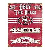 Party Animal NFL Embossed Metal Vintage San Francisco 49ers Sign