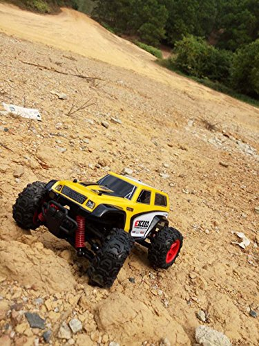 Choosebuy RC Car, SUBOTECH 25MPH 40km/h 1:24 High Speed Scale Off Road Car (Yellow) by Choosebuy (Image #3)