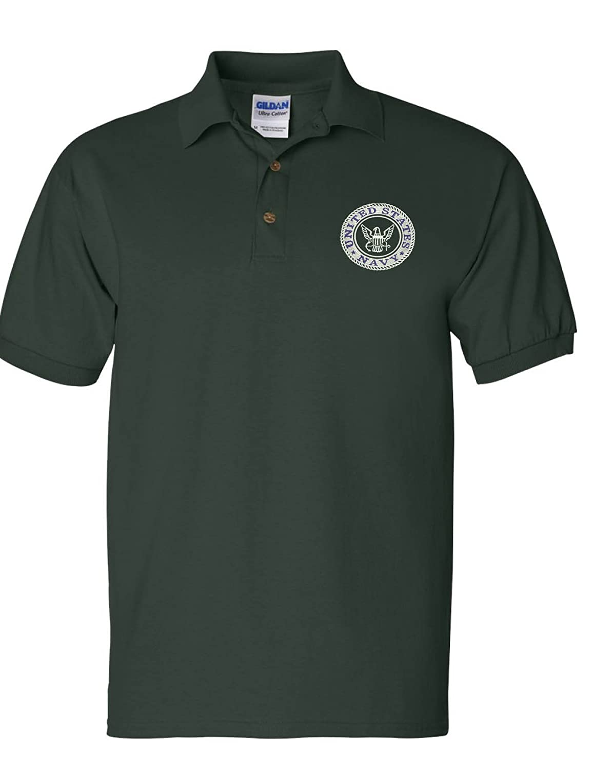 f2c9f180 Amazon.com: Allntrends Men's Polo T Shirt US Navy Embroidered Army Top USA  American Soldier: Clothing
