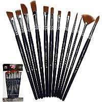 Paint Brushes 12 Set Professional Paint Brush Round...