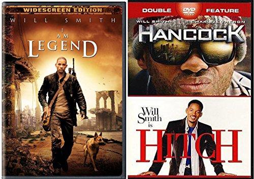 Hancock & Hitch + I Am Legend (Widescreen Single-Disc Edition) Sci-Fi Comedy Will Smith DVD Movie Set