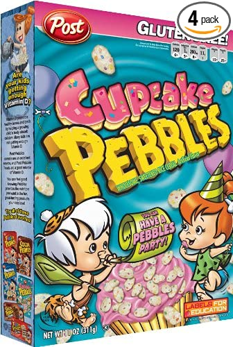 Amazon com: Post Pebbles Cupcake Cereal, 11-Ounce Boxes