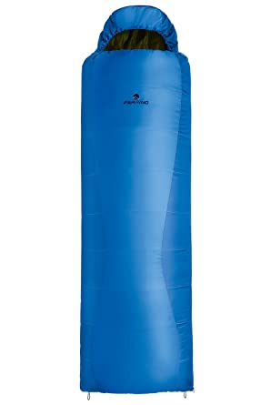 Ferrino Lightec 1100 - Saco de dormir momia para acampada, color azul
