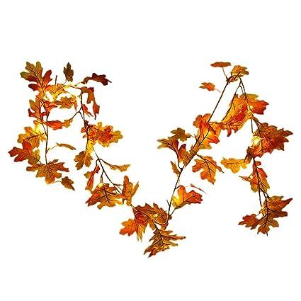 Guirnalda artificial para colgar,colgante de hojas de navidad ...