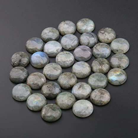12mm 20pcs Mixed Natural Stone Round Cab Cabochon