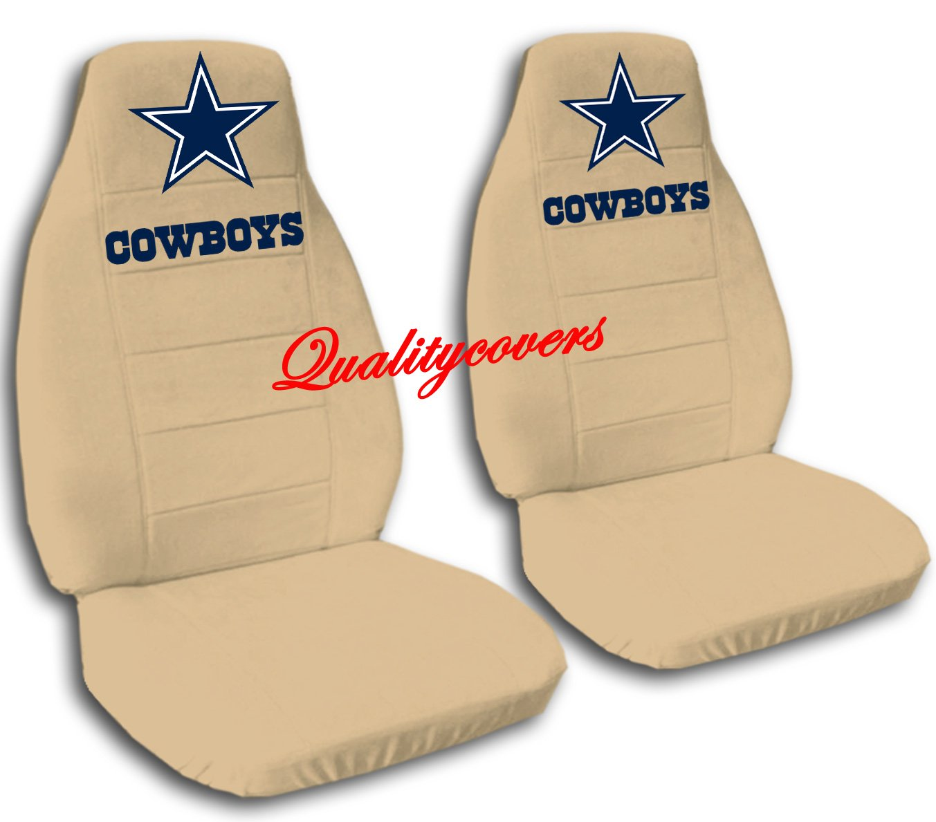 2 Tan Dallas seat covers for a 2007 to 2012 Chevrolet Silverado. Side airbag friendly.