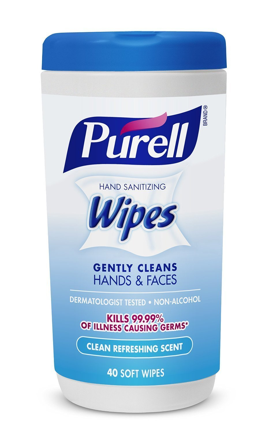 Purell 9120-06-CMR Hand Sanitizing Wipes, Clean Refreshing Scent VFDHbe,40 Count Canister (Pack of 24)