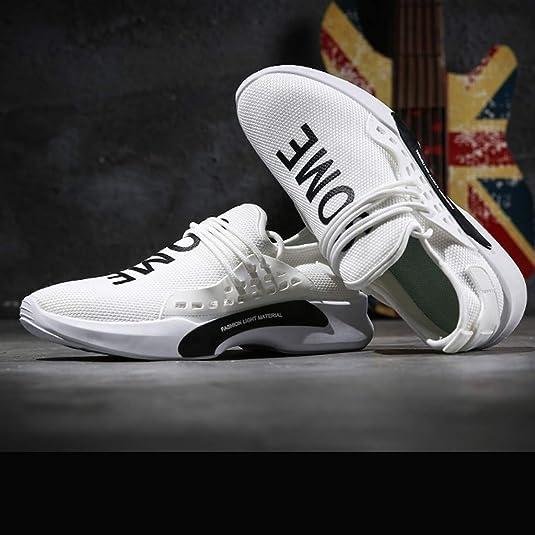 Lovers - Zapatillas Deportivas para Hombre y Mujer, Ligeras, Color Blanco, para Correr, Correr o IR a la Moda, Unisex, Color Negro Negro Size: 43 EU: Amazon.es: Zapatos y complementos