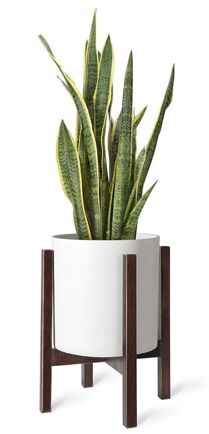 365791dbd66f Mkono Plant Stand Mid Century Wood Flower Pot Holder Indoor Potted Rack  Modern Home Decor,