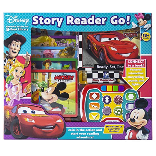 Disney - Mickey, Minnie, Toy Story and More! Story Reader Go! Electronic Reader and 8-Book Library - PI Kids