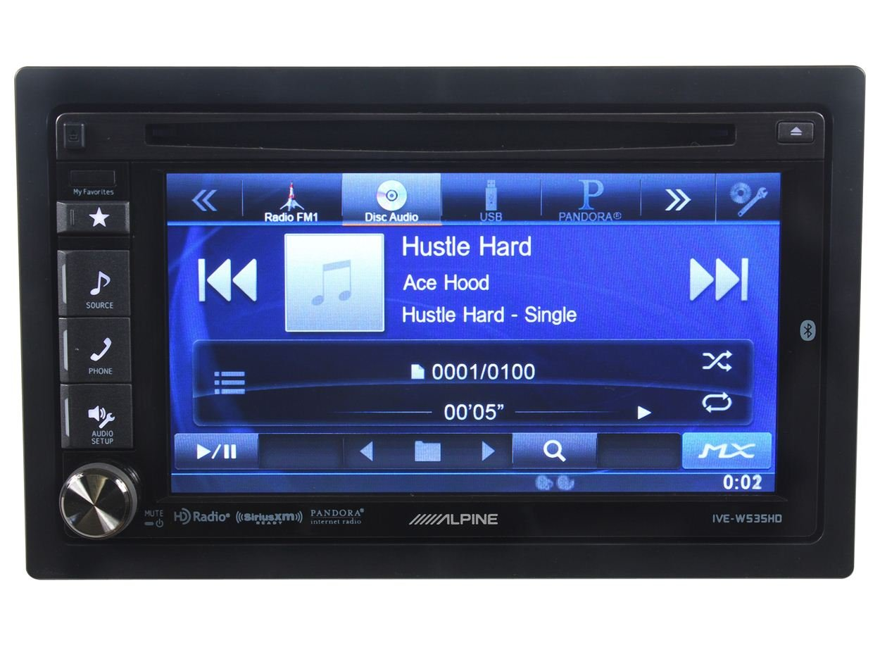 Of the line double din touch screen car stereos from pioneer and sony - Amazon Com Alpine Ive W535hd 6 1 Double Din In Dash Touchscreen Receiver Car Stereo Radio With Bluetooth Car Electronics