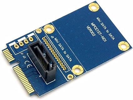 50mm Mini pci Express pcie PCI-E mSATA SSD a SATA 7pin HDD Unidad ...