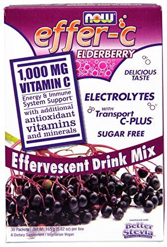 NOW Effer C Elderberry 30 Packets