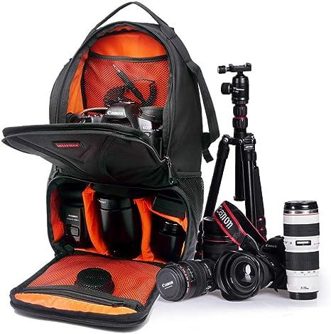 WUZHENG Estuche para cámara Sling Backpack para Nikon Canon Sony y Otras cámaras y Lentes DSLR, Otros Accesorios, Bolsa Impermeable y Resistente a la Rotura,Orange: Amazon.es: Deportes y aire libre