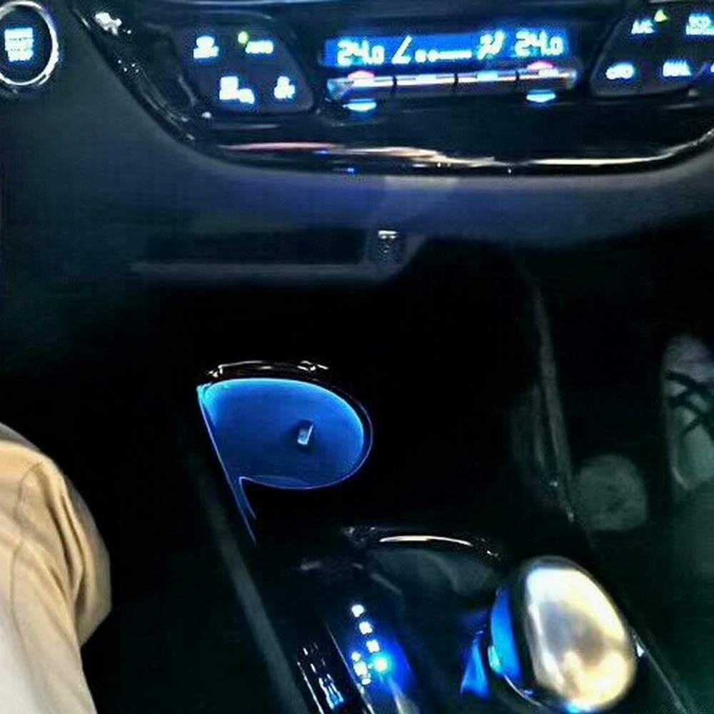 July King Voiture LED Bleu Couleur Porte-gobelet Atmosph/ère Lumi/ère Ambient-T-C-HR Pour CH-R 2017 2018 2019 Lumi/ère dambiance centrale