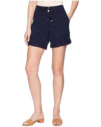 91309e622 Lauren Ralph Lauren Womens Cotton Twill Drawstring Shorts Size 0 Navy at  Amazon Women s Clothing store