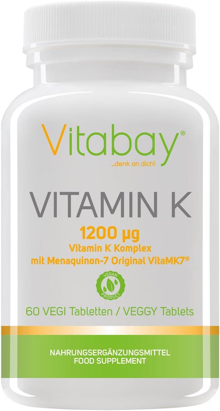 Super Vitamina K 1200µg con complementos K2 muy desarrollados