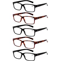 dd2399407bda Reading Glasses 5 Pairs Quality Readers Spring Hinge Glasses for Reading  for Men and Women