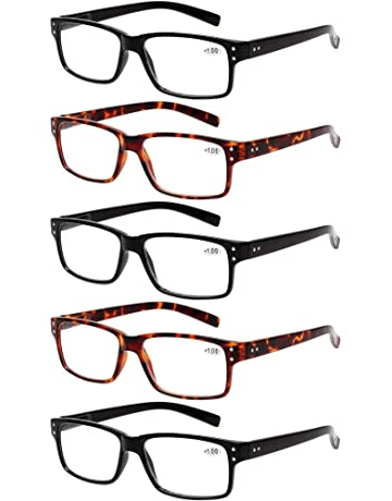 66ff7e42cae Reading Glasses 5 Pairs Quality Readers Spring Hinge Glasses for Reading  for Men and Women