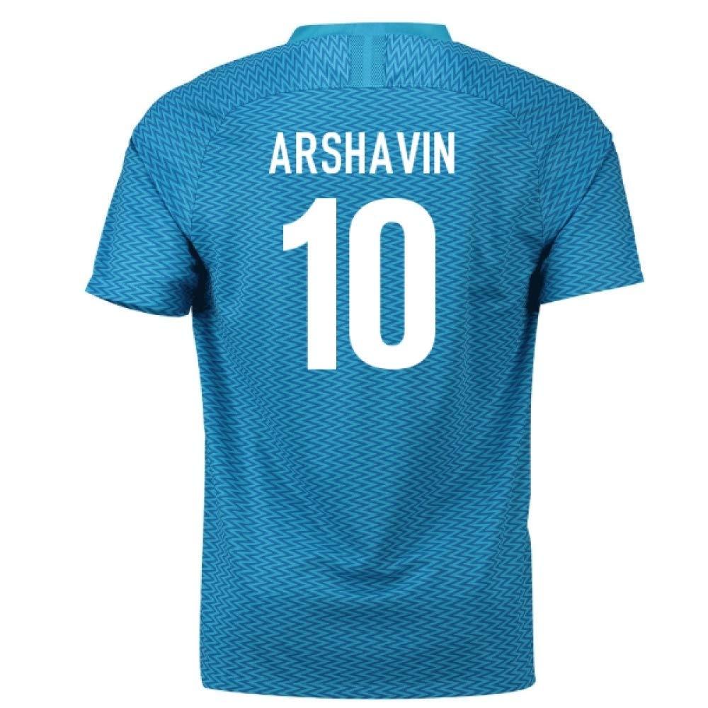 2018-19 Zenit St Petersburg Home Football Soccer T-Shirt Trikot (Andrey Arshavin 10)