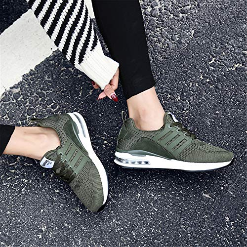 Comfort Tacco Grigio donna piatto Estate Knit Primavera da Black Rosa ZHZNVX Scarpe Sneakers Verde FqYwg