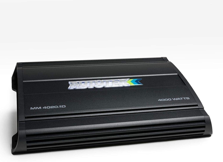 4, 000 Watts Black Autotek The Mean Machine Subwoofer Monoblock Class D Amp MM4020.1D