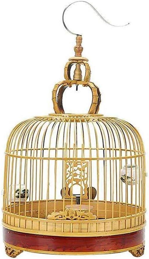 Jaula de pájaros Redonda Gancho de Acero Inoxidable Jaula de pájaros de diseño de Estilo Chino al Aire Libre Retro Villa