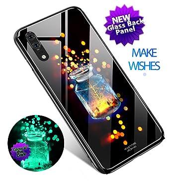 Case for Huawei P20 Pro Glow in the Dark, Slim Anti Scratch Glass