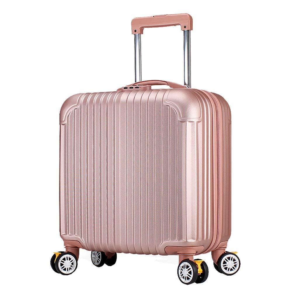 トロリーケースABS大容量ポータブル出張ミュートキャスタースーツケース B07MN2FNDF Pink
