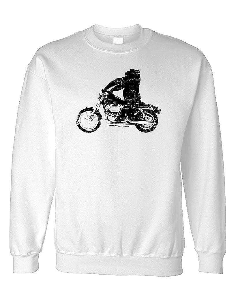 Biker Motorcycle ape Gorilla ON A HOG Fleece Sweatshirt