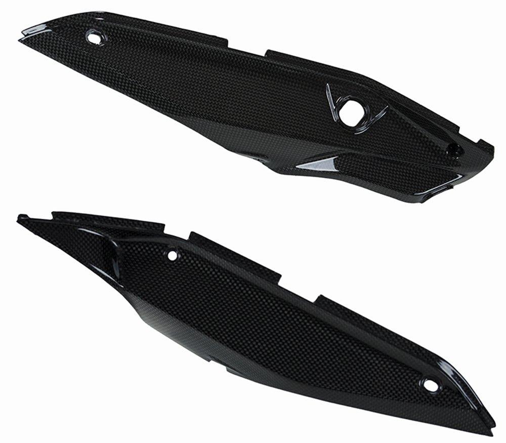 Ducati Hypermotard 821 SP Hyperstrada Carbon Fiber Lower Rear Side Panels Fairings Covers