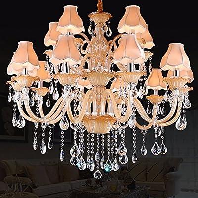 Romantic bedroom lamp, chandelier living room luxury duplex floor restaurant lights