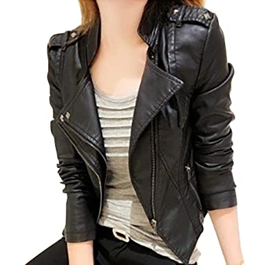fashion: Autumn Leather Jacket Women Turn-down Collar Chaquetas Mujer Casaco Feminino Short Women