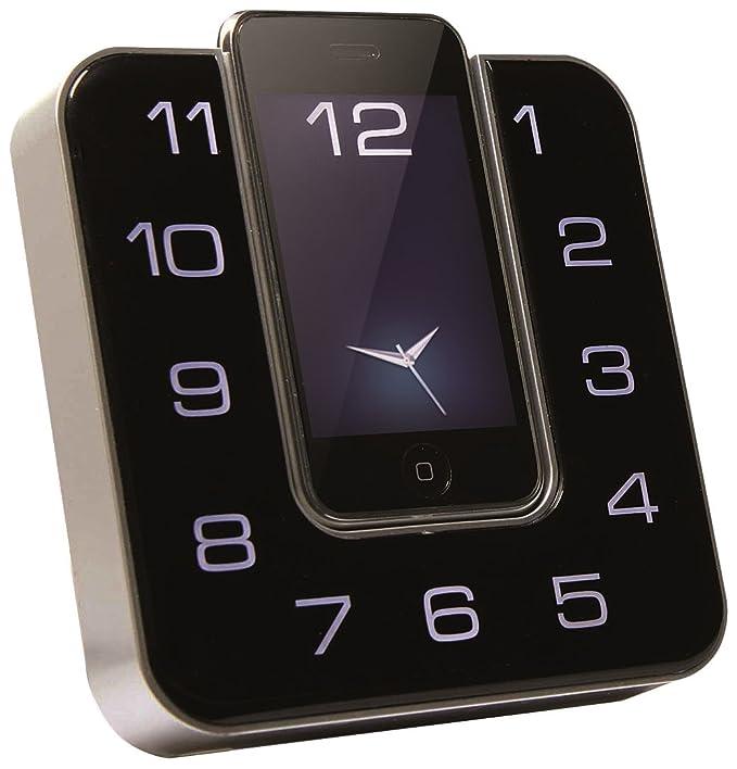 cmx LSP 8040 - Radiodespertador (FM, pantalla LCD, 2 alarmas, compatible con iPod/iPhone), negro