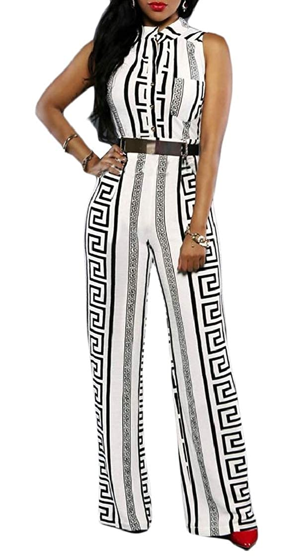 Hajotrawa Womens See Through Wide Leg Mesh Zip Up 2 Piece Rompers Jumpsuits