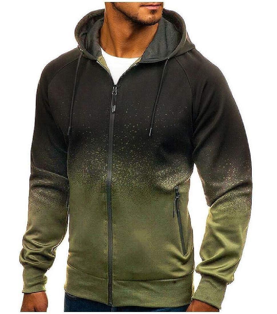 Joe Wenko Men Outdoor Jacket Printed Hoodie Coat Top Sweatshirts