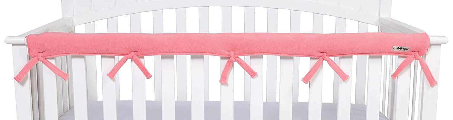 Trend Lab CribWrap Narrow 1 Long Fleece Rail Cover, Coral 109108
