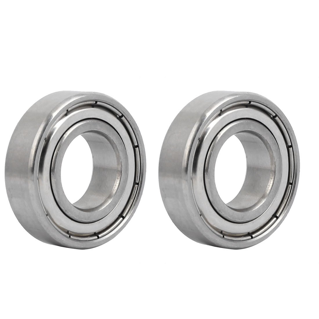 uxcell35mmx17mmx10mm Stainless Steel Single Row Double Shielded Deep Groove Ball Bearing 2pcs