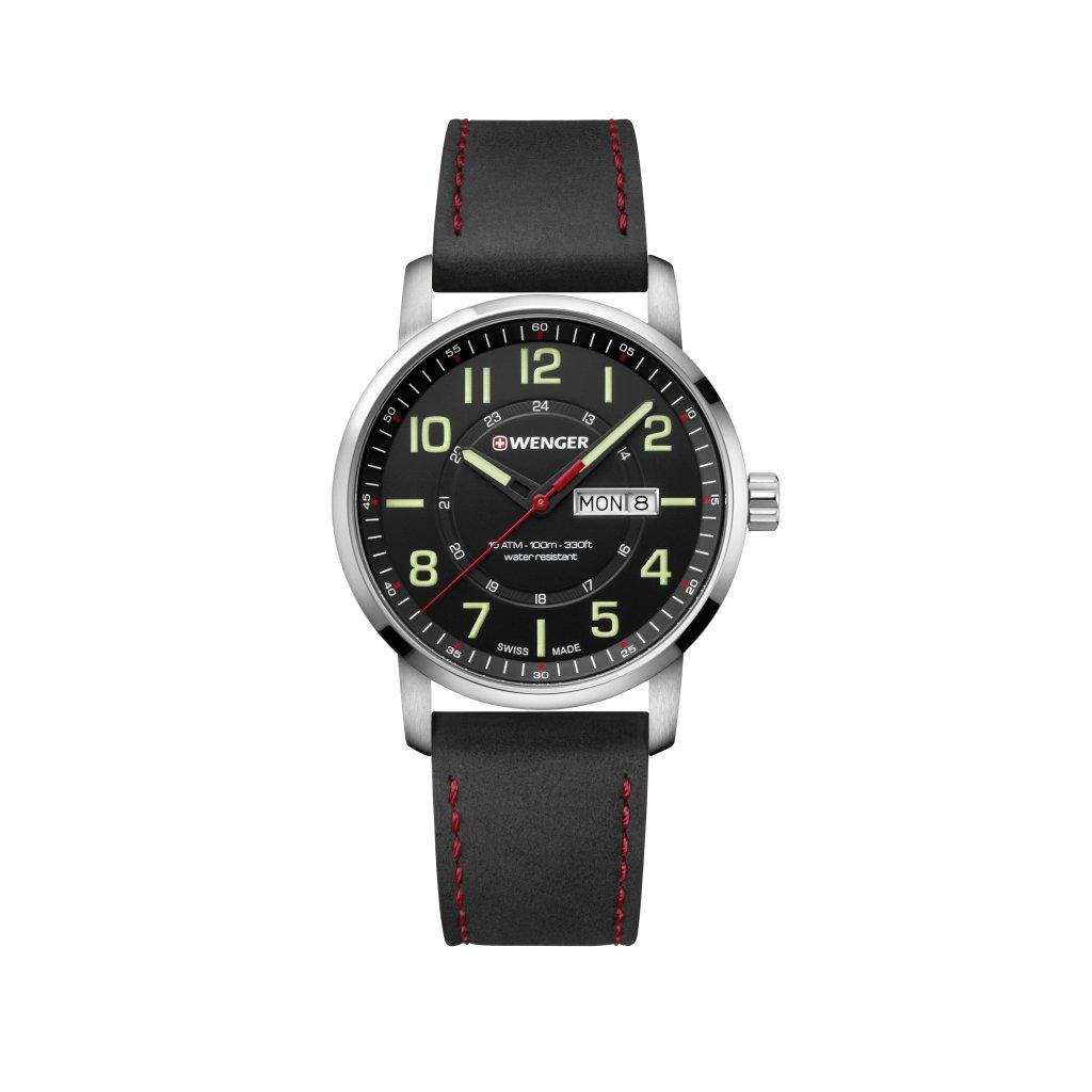 WENGER Reloj Analogico para Unisex de Cuarzo con Correa en Cuero 01.1541.101