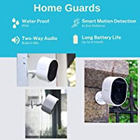 Home Guards C302 1080P HD Wireless Security Camera Outdoor/Indoor, Standalone WiFi connection, 180-Days Battery Life…