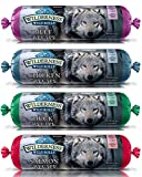 BLUE WILDERNESS WET DOG FOOD ROLLS NATURAL HEALTHY HOLISITC GRAIN FREE BEEF SALMON DUCK CHICKEN VARIETY PACK 4 POUNDS