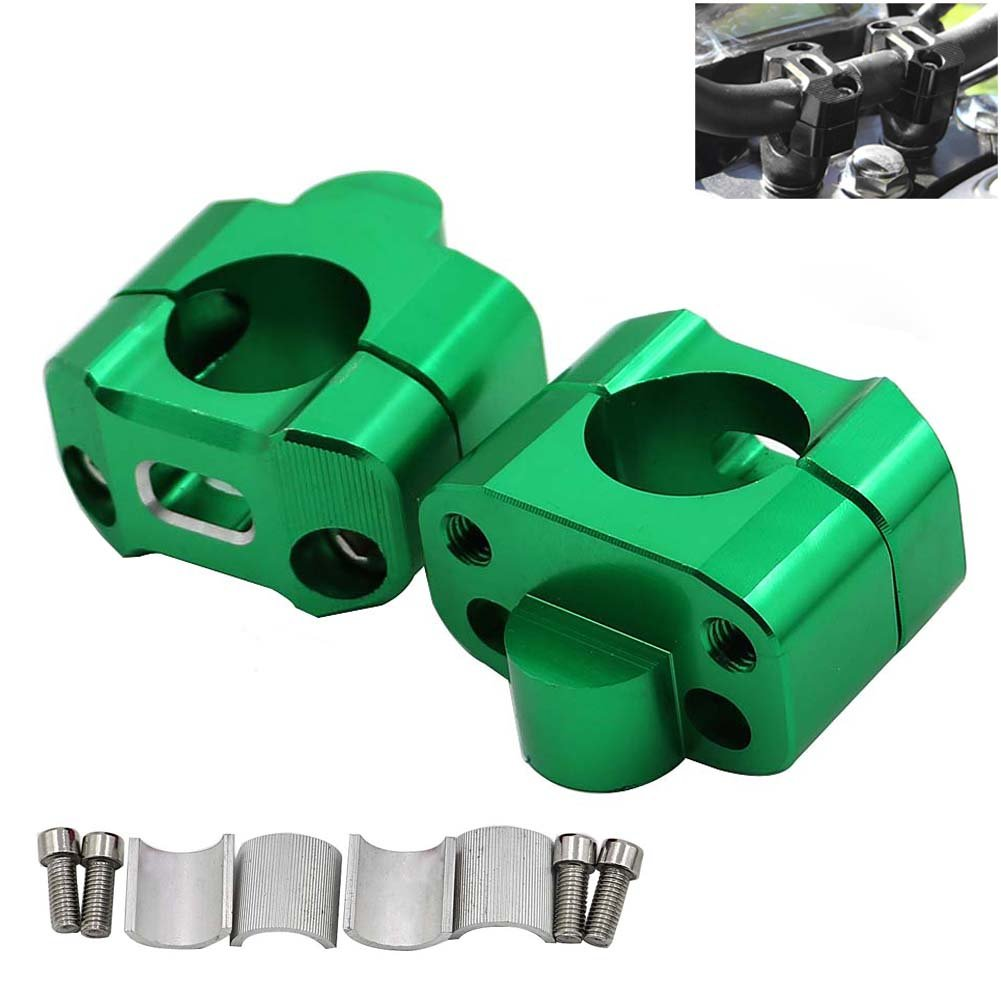 Handlebars,Purple 22mm 1Pair CNC Aluminum Motorcycle Handlebar Risers 28mm Adjustable,Alpha Rider Fat Bar Risers Mount Clamp Adaptor Fits For Most Motorcyle,Dirt Bikes,ATVs with 7//8 28mm /& 1 1//8