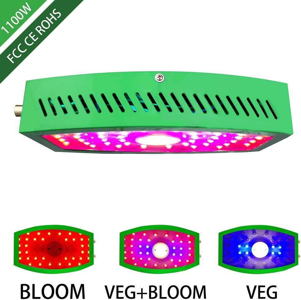 QYSHH 1000W LED Cultivo Interior, Plantas Grow Light,Doble Interruptor, Light 44 LED, Espectro Completo Ligero Lampara Ajustable, Potente Sistema de Disipación de