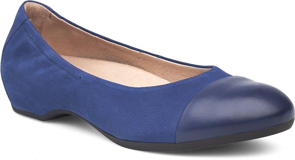 Dansko Women's Lisanne Flat Blue Milled Nubuck Size 39 EU (8.5-9 M US Women) by Dansko (Image #1)