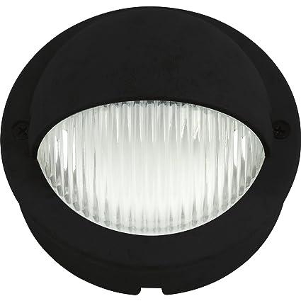 progress lighting p5296 31 led deck light black finish patio deck