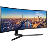 Samsung CJ890 Series 49 inch 3840x1080 Super Ultra-Wide Desktop Monitor for Business, 144 Hz, USB-C, HDMI, DisplayPort, 3-Year Warranty (C49J890DKN)