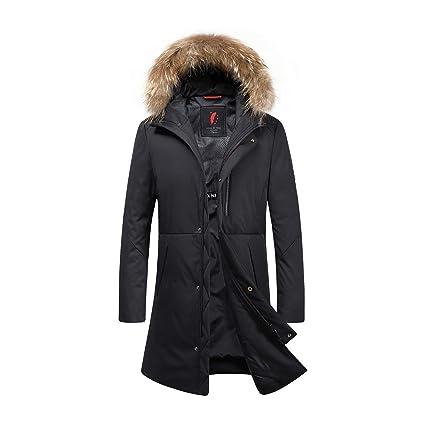 Amazon.com: HUAN Chaqueta de plumón para hombre, de invierno ...