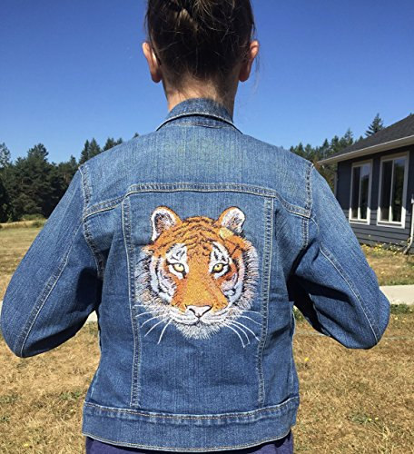 Tiger Embroidered Patch, Bengal Tiger Patch, Patches for Jackets, Large Tiger Patch, Multiple sizes